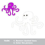 Cartoon octopus to be traced Royalty Free Stock Image