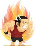 Cartoon Of Angry Man Royalty Free Stock Image