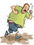 Cartoon Of Overweight Runner Royalty Free Stock Image