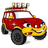 Cartoon the off-road car Royalty Free Stock Photography