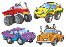 Cartoon the off road car Stock Photos