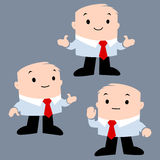 Cartoon Office Character. Cartoon vector illustration of businessman for presentation design element Royalty Free Stock Photo