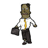 Cartoon office guy with torn clothes Stock Photography