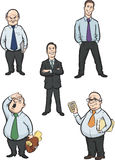 Cartoon office men figures. Vector illustration of cartoon office men figures. Easy-edit layered vector EPS10 file scalable to any size without quality loss Royalty Free Stock Photos