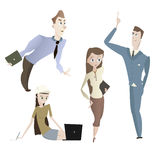 Cartoon office people characters set Stock Photos