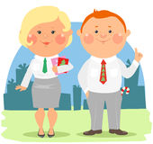 Cartoon office people - Coworkers Royalty Free Stock Photo