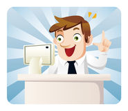 Cartoon office worker Stock Images