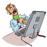 Cartoon office worker attacked by Stock Images