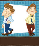 Cartoon office worker card Royalty Free Stock Images