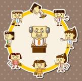 Cartoon office worker card Stock Image