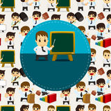 Cartoon office worker card Royalty Free Stock Image