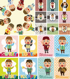 Cartoon office worker card Royalty Free Stock Photos