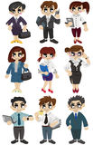 Cartoon office worker icon Royalty Free Stock Photography