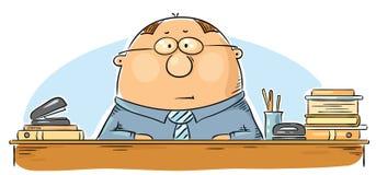 Cartoon office worker Stock Photos