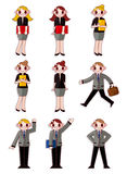 Cartoon office workers icon Stock Image