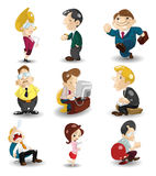 Cartoon office workers icon Stock Photos