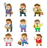 Cartoon office workers icons Royalty Free Stock Photography