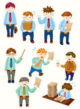 Cartoon office workers icons Royalty Free Stock Images