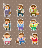 Cartoon office workers stickers Royalty Free Stock Images