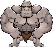 Cartoon Ogre Flexing Royalty Free Stock Photo