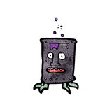 cartoon oil drum can Royalty Free Stock Image