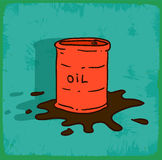 Cartoon oil illustration, vector icon Royalty Free Stock Images