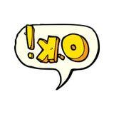 cartoon OK symbol with speech bubble Stock Photo