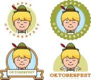 Cartoon Oktoberfest Boy Graphic Stock Photo