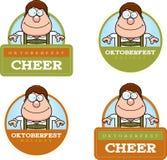 Cartoon Oktoberfest Boy Graphic Stock Photos