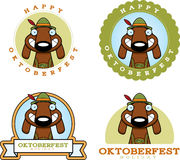Cartoon Oktoberfest Dog Graphic Royalty Free Stock Photography