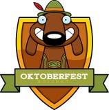 Cartoon Oktoberfest Dog Graphic Royalty Free Stock Photo