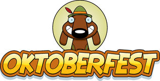 Cartoon Oktoberfest Dog Graphic Stock Photography