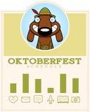 Cartoon Oktoberfest Dog Graphic Stock Photo