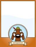 Cartoon Oktoberfest Dog Graphic Stock Image