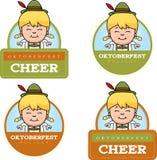 Cartoon Oktoberfest Girl Graphic Stock Photos