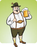 Cartoon oktoberfest man with beer Royalty Free Stock Photo