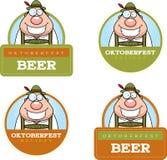 Cartoon Oktoberfest Man Graphic Stock Images