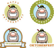 Cartoon Oktoberfest Man Graphic Royalty Free Stock Images