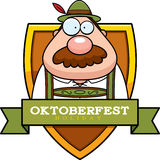 Cartoon Oktoberfest Man Graphic Royalty Free Stock Photo