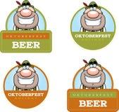 Cartoon Oktoberfest Man Graphic Stock Photos