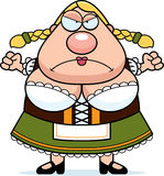Cartoon Oktoberfest Woman Angry Royalty Free Stock Photography