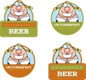 Cartoon Oktoberfest Woman Graphic Royalty Free Stock Photography