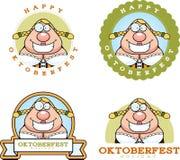 Cartoon Oktoberfest Woman Graphic Stock Image