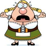 Cartoon Oktoberfest Woman Panic Stock Images