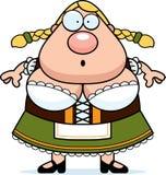Cartoon Oktoberfest Woman Surprised Royalty Free Stock Image
