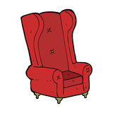 Cartoon old armchair Stock Images