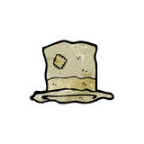 Cartoon old battered top hat Royalty Free Stock Photography