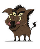 Cartoon old boar Stock Images