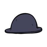 Cartoon old bowler hat Royalty Free Stock Image