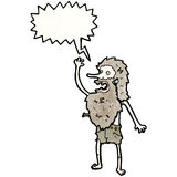 Cartoon old castaway man Stock Photo